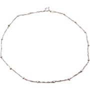 Sterling Silver Singapore Bead Anklet ~ 11 1/2""