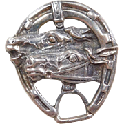 Equestrian Sterling Silver Horse Pin / Brooch