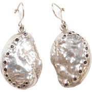 Sterling Silver Nautical Shell Earrings
