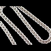 "Sterling Silver Heavy Box Chain ~ 23"" ~ 59.5 Grams"