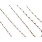 """Sterling Silver Diamond Cut Rope Chain ~ 16""""~ 5.1 Grams"""