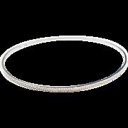 "Sterling Silver Bangle Bracelet ~ 8 1/4"" Circumference"