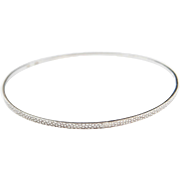 "Sterling Silver Bangle Bracelet ~ 8 1/4"" Circumference"