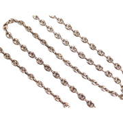 "Sterling Silver Long Gucci Link Chain ~ 24"" ~ 22.2 Grams"