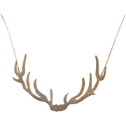 """Sterling Silver Necklace ~ 18"""" ~ Branches / Antlers"""