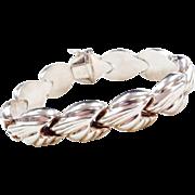 """Sterling Silver Chunky Bracelet ~ 8"""""""