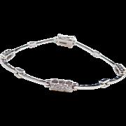 """Sterling Silver Faux Diamond Bracelet ~ 7 3/8"""""""
