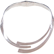 """Sterling Silver Hinged Collar Necklace ~ 15"""""""