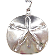 BIG Sterling Silver Sand Dollar Pendant