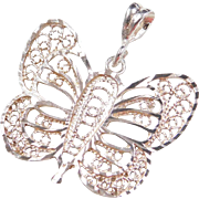 Sterling Silver Filigree Butterfly