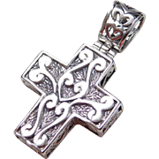 Sterling Silver Ornate Cross Pendant