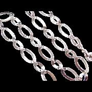 """Sterling Silver Fancy Link Chain ~ 24 1/4"""""""