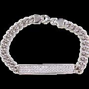 """Sterling Silver Faux Diamond Bracelet ~ 7"""""""