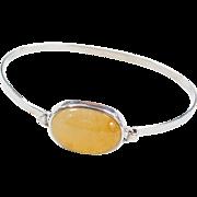 Sterling Silver Yellow Quartz Bangle Bracelet