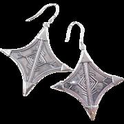 Sterling Silver BIG Earrings