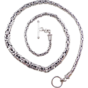 """Sterling Silver Graduated Byzantine Chain ~ 18"""""""