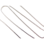 "Sterling Silver Long Box Chain ~ 24"" ~ 21.3 Grams"