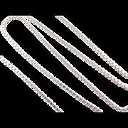 "Sterling Silver Long Box Chain ~ 24"" ~ 21.3 Grams"