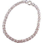 Sterling Silver Wide Byzantine Chain ~ 18 1/2""