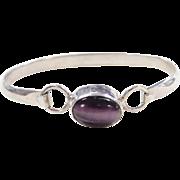 Sterling Silver Purple Cats Eye Bracelet