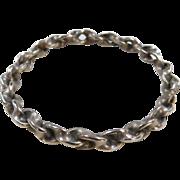 """Sterling Silver Twisted Bangle Bracelet ~ 7.85"""""""