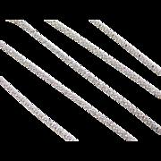 "Sterling Silver Popcorn Chain ~ 18"" ~ 3.2 Grams"