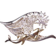 Sterling Silver Two-Tone Dolphin Pin / Brooch