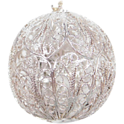 Sterling Silver Filigree Ball Pendant / Charm