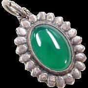 Sterling Silver Chrysoprase Pendant