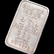 Silver 2 Gram Bar