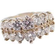 Sterling Silver Faux Diamond Ring