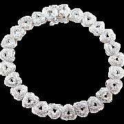 """Sterling Silver Heart Bracelet ~ 7 1/4"""""""