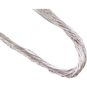 """Sterling Silver Long Twisted Liquid Silver Necklace ~ 24"""" - 28"""""""