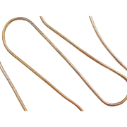 """Sterling Silver Gold Vermeil Snake Chain ~ 20 3/4"""" ~ 13.2 Grams"""