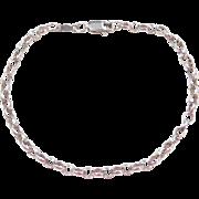 "Sterling Silver Oval Link Bracelet ~ 7 1/2"""