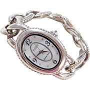 Sterling Silver Ecclissi Mother of Pearl Watch