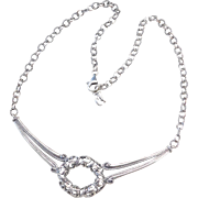 Sterling Silver Ornate Necklace ~ 18""