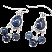 Sterling Silver Sodalite Earrings