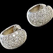 Sterling Silver Faux Diamond Huggie Hoop Earrings