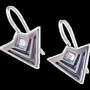 Sterling Silver Faux Diamond Earrings