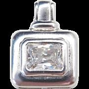 Sterling Silver Faux Diamond Pendant