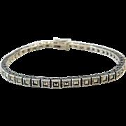 "Sterling Silver Marcasite Tennis Bracelet ~ 7 1/2"""