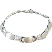 "Sterling Silver Bracelet ~ 7 1/8"""