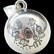 Sterling Silver Family Jingle Ball Pendant