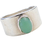Sterling Silver Green Chalcedony Ring