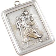 Sterling Silver Saint Christopher Religious Pendant