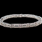 """Sterling Silver Faux Diamond Bracelet ~ 7 1/2"""""""