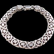 "Sterling Silver Men's Bracelet ~ 8 1/2"""