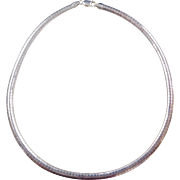 """Sterling Silver Omega Chain ~ 18"""" ~ 28.8 Grams"""