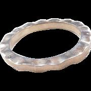 """Sterling Silver Chunky Bangle Bracelet ~ 7.85"""" Circumference"""